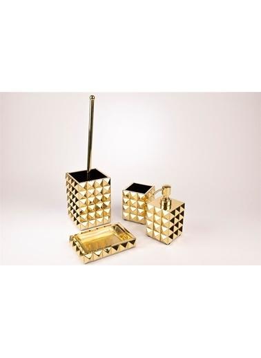 Mikasa Moor Gold Kare 4 Parça Banyo Seti Altın